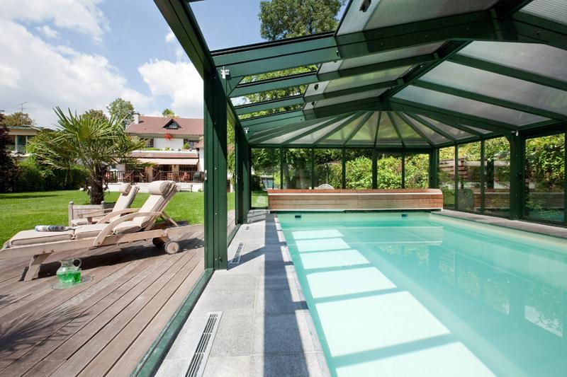 Abri de piscine véranda haut