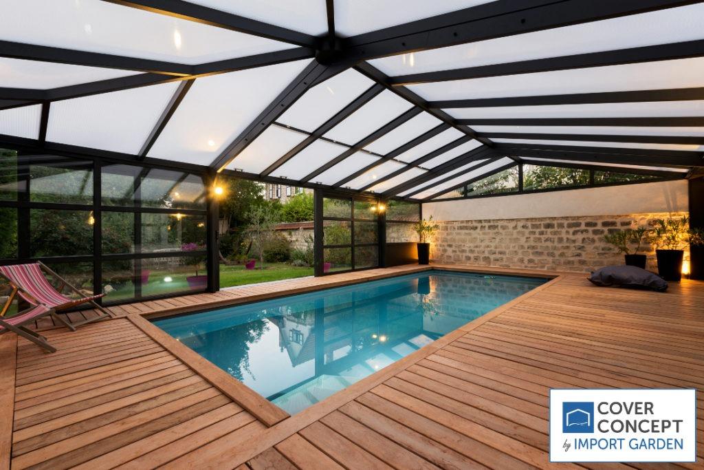 La véranda piscine, la technologie au service du confort par Cover Concept