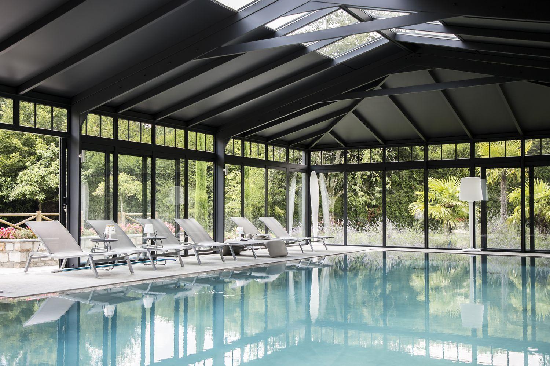 Toiture mixte sur mesure de la véranda pour piscine