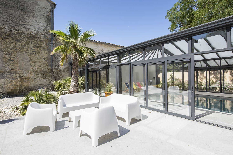 Une véranda de luxe pour piscine en Occitanie   Cover Concept