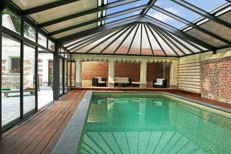 Véranda pour piscine avec structure en aluminium   Cover ...