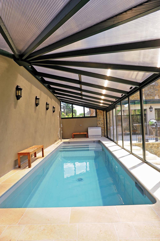 Véranda pour piscine avec structure en aluminium | Cover Concept