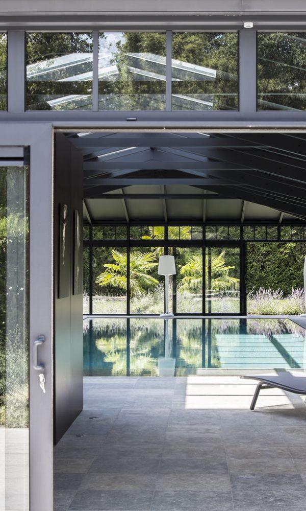 Châssis en aluminium coulissant de véranda pour piscine