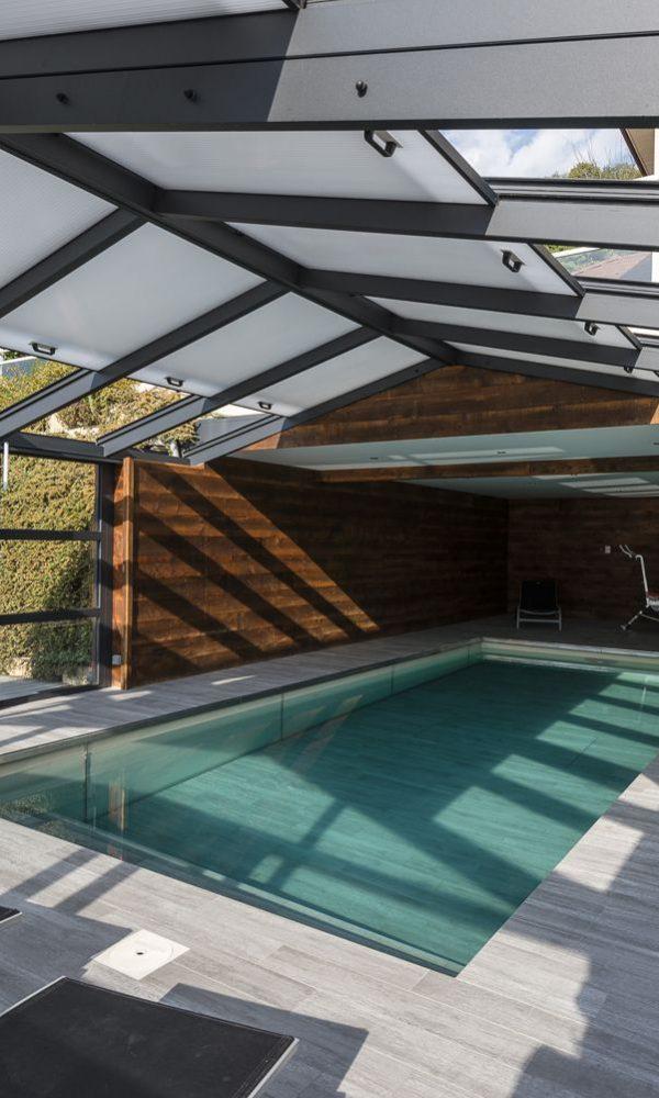 Véranda pour piscine avec toit ouvrant en polycarbonate | Cover Concept