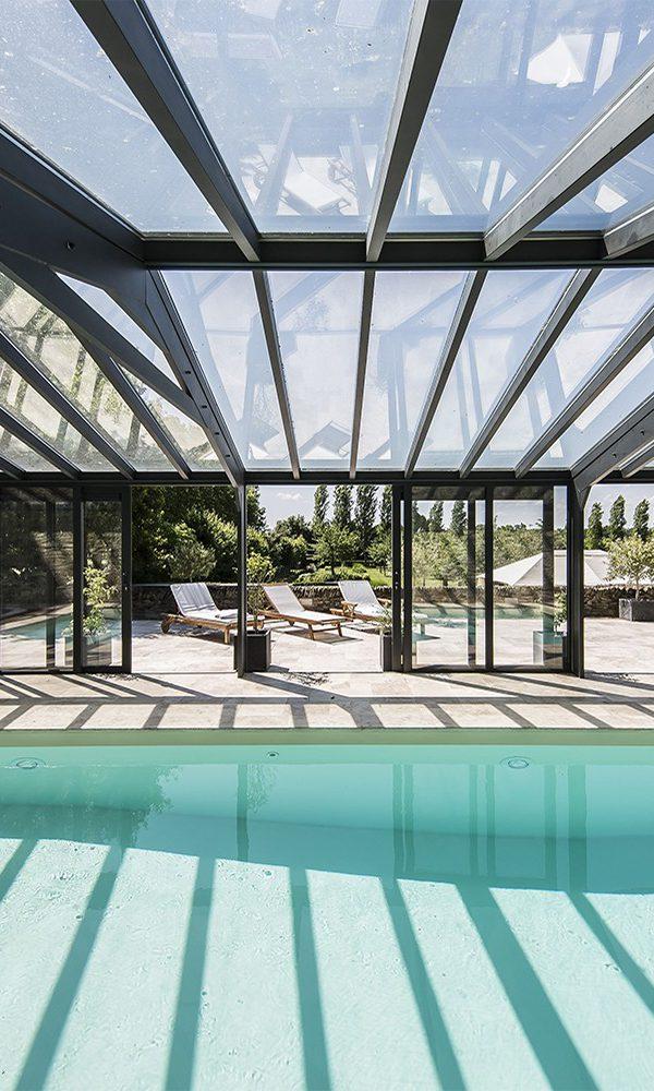 Véranda pour piscine double vitrage